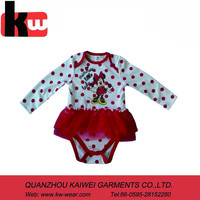 2014 Hot Selling Baby Dresses Printed with Mickey