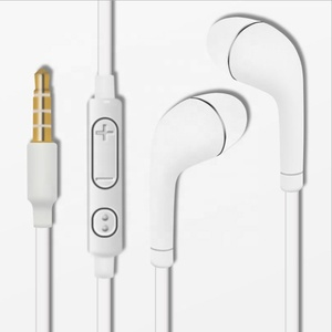 Hot Sales in 2018 Headset 3.5mm Handsfree headphone For Samsung S4 JB J5 Earphone With Mic And Volume Control White Black