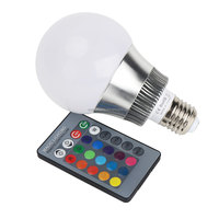 eSavebulbs High Lumen E27 E14 10W Magic Color LED RGB Light Bulb with Remote Controller Use For Bar Hotel KTV House