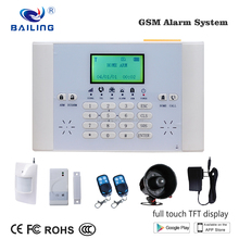 2017 HOT SALE GSM House Security Alarm System Wireless Fire alarm system