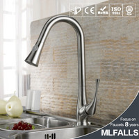 Brushed Nickel Kitchen Sink Faucet Pull Out Down Sprayer Mixer Taps Wet Sink Bar Faucets