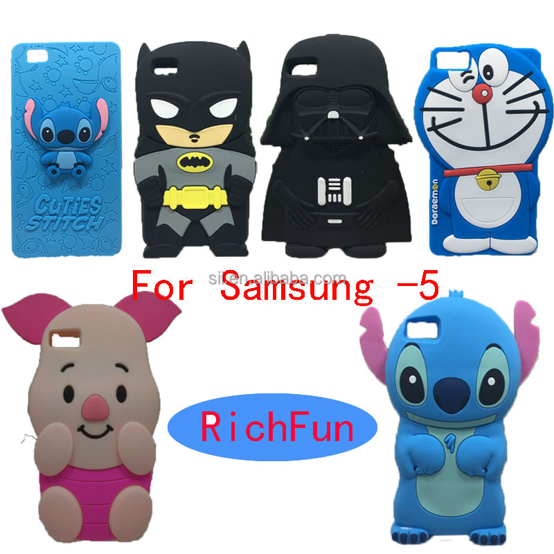 Hot 3D Lovely Cartoon Cuties Stitch Soft Silicon Back Cover Phone Case For Samsung Galaxy Note 2 3 4 5 7 Trend Duos Plus