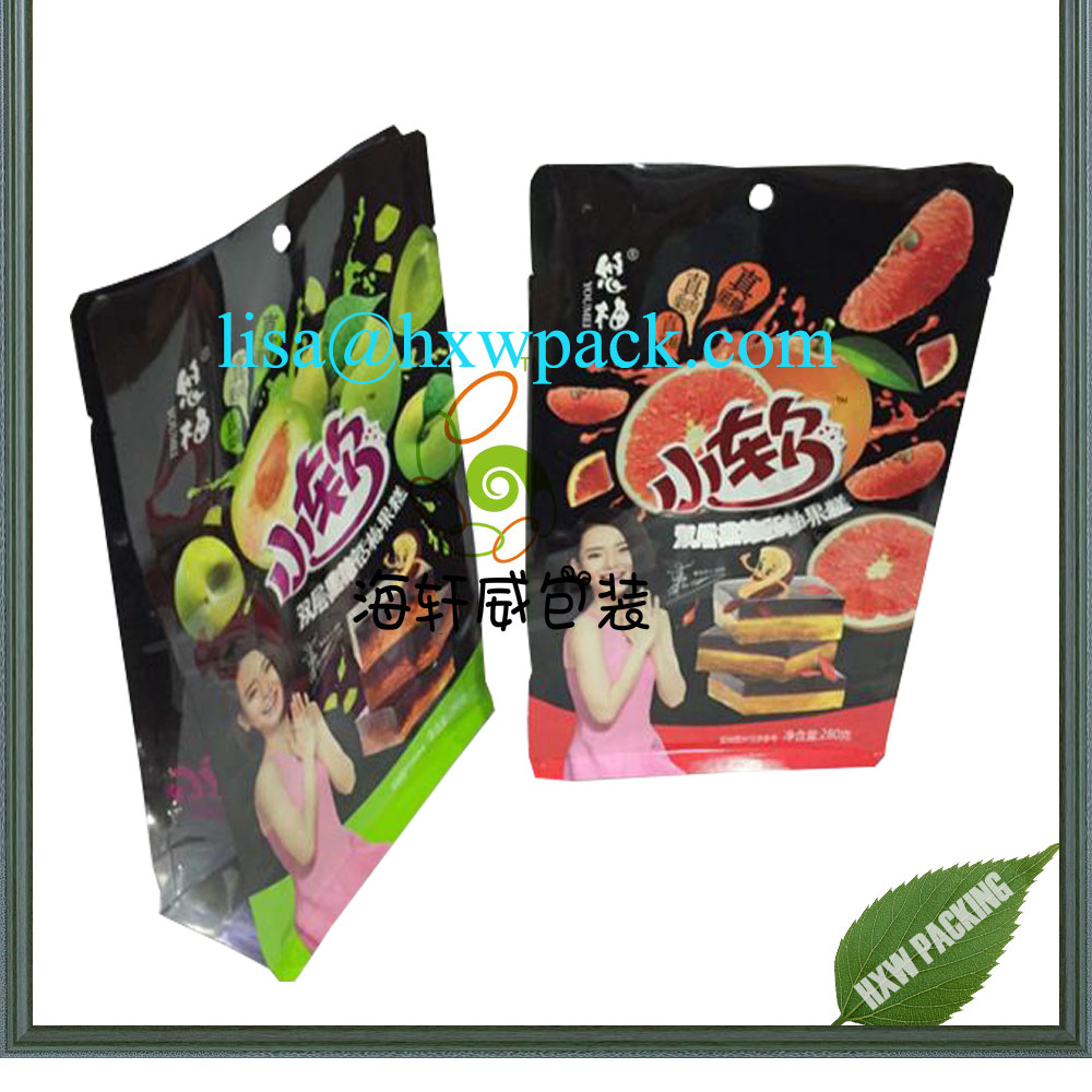excellent quality low price laminated flat bottom snacks dried fruit banana mango chips plastic packing bag
