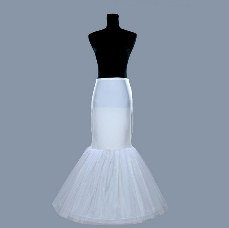 PT011 Hot Sale Cheap 2018 Mermaid Wedding Petticoat Bridal Accessories Underskirt Crinoline Petticoats for Wedding Dresses Jupon