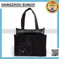 fashion design promotional non woven 6 bottle wine tote bag