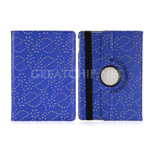 New 360 Rotation Diamond PU Leather Case for Apple iPad pro Smart Cover Flip Cases with Stand Function