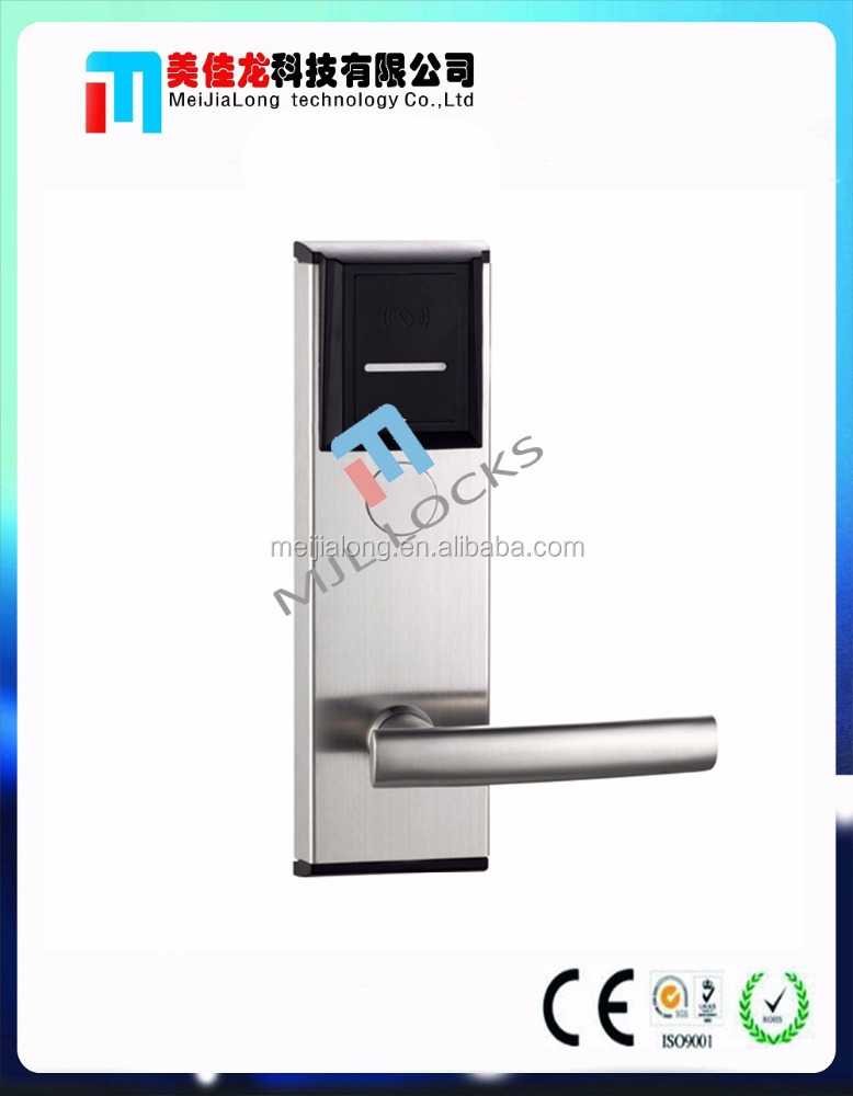RF card hotel door lock , hotel key card lock system , hotel lock parts