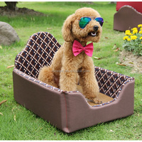 Best quality best-selling coffee summer pet bed lovely plush memory dog bunk bed
