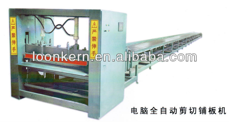 high output core veneer plywood paving machine / plywood assemble line