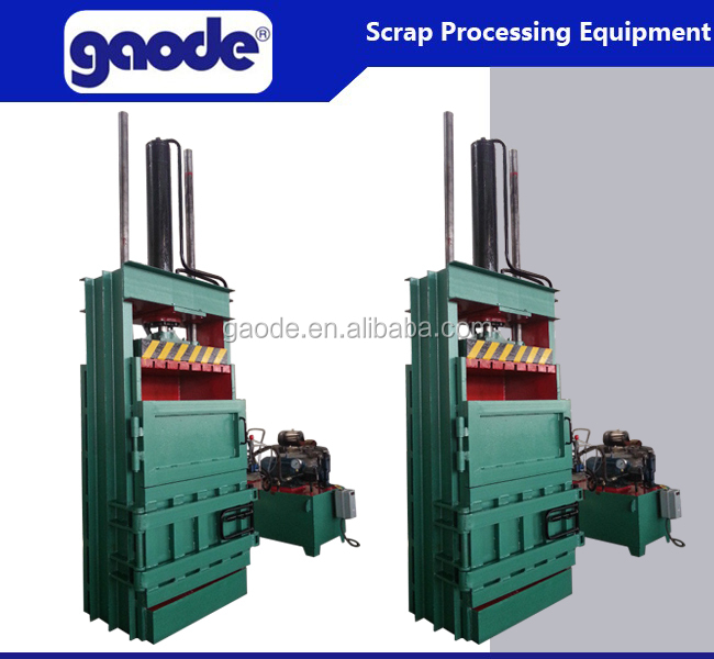 factory sale hydraulic plastic baler machine for sale