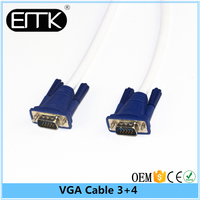 4.5FT White 15PIN VGA/SVGA D-Sub Male to Male Cable Monitor M/M New For PC TV