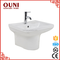 ON-0508 Sanitary ware white wall mounted bathroom ceramic new style basin with great price