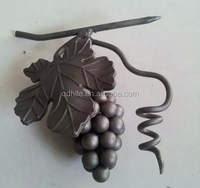 Wrought Iron Grapes for Iron Gate,cast grapes Iron Fence as Decorations