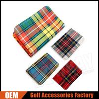 Custom Tartan Golf Scorecard Holder With Pencil