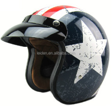Motorcycle open face helmet with DOT CE approved casco bluetooth casco german bell style vintage helmet
