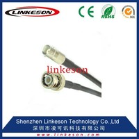 RG58 LMR200 coaxial cable assembly with BNC male to female crimp connector