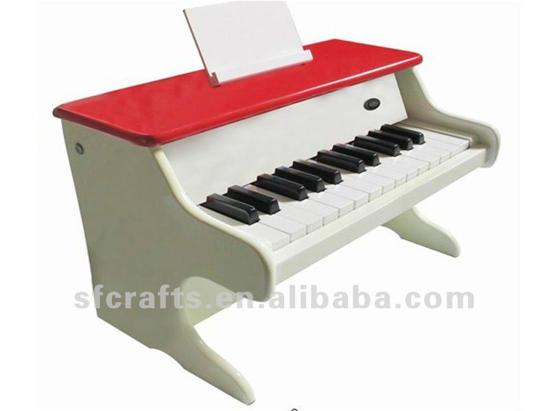 25 keys wooden piano keyboard