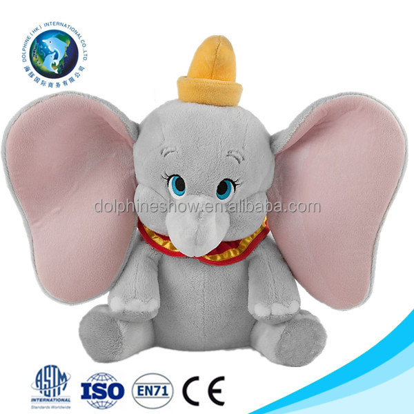 Cartoon custom big ears plush elephant toy Promotion gift kids toy stuffed soft plush elephant toy