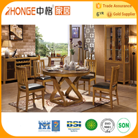 6N001 round glass dining table and 6 chairs/artificial stone dining table/dining table and chair