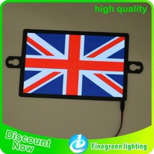 el flashing flag car sticker/equalizer el car sticker el sheet car stickerr/3d car sticker
