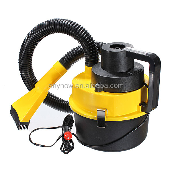 Portable DC 12V Car vacuum cleaner with handy flexible hose efficiently pick up wet and dry spills in hard to reach areas