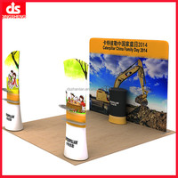 3x3 meter straight shape fabric pop banner stand