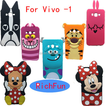 Hot 3D Lovely Cute Cartoon Sulley Cat Tiger Soft Silicon Back Cover Phone Case For BBK Vivo V3 Max V5 Y11 Y13L Y15 Y18 case