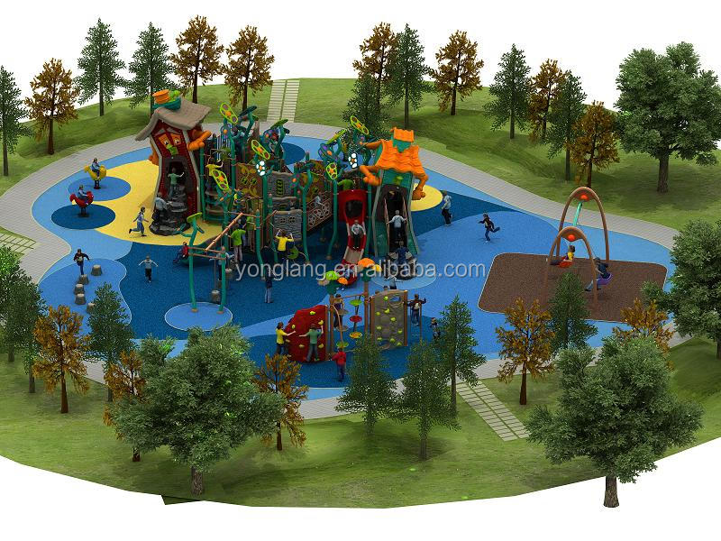 Outdoor playground equipment amusement park facility for children