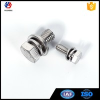 Free Samples M9 Hex Bolt with Spring and Washer
