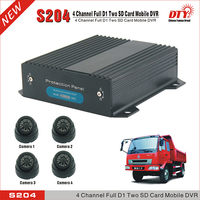4ch Mobile DVR HDD Double SD Card Bus Truck Car Mobile DVR ,S204 series