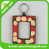 OEM customized pvc rubber keychain photo frame