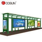 Hot Sale Solar Bus Stop Shelter in Good Quality with Waiting Chair for Outdoor Equipment