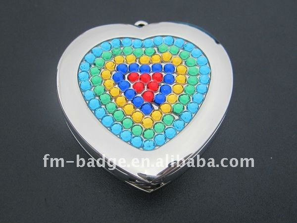 Heart shape with stone bag hanger Metal,zinc alloy Material and Bag Hanger