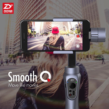 App control gimbal 3-Axis Zhiyun Smooth-Q 360 degree stabilizer for iPhone Samsung within 6.0 inch