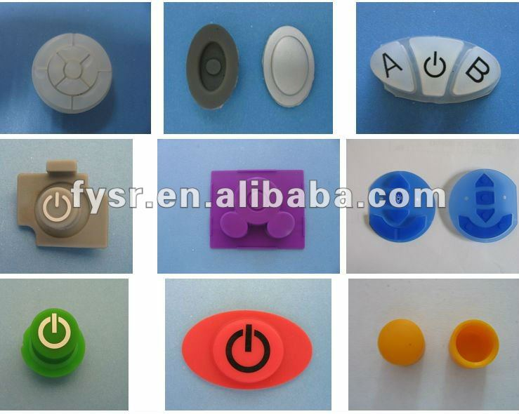 OEM remote rubber pad silicon rubber switch button silicon conductive rubber pads