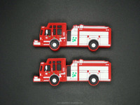 Personalized pvc material 4GB, 8GB, 16GB fire fighting truck shaped usb flash memory stick pen drive