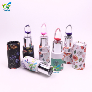 MOQ=500pcs cosmetics label lipstick lip balm gloss packaging container box paper tube private  for gift