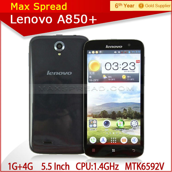 Original Lenovo A850+ Android Smartphone 5.5 inch IPS 960 x 540 MTK6592m manual wifi mobile phones