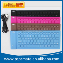 Waterproof flexible Silicon Rubber Mini Bluetooth Wireless Keyboard
