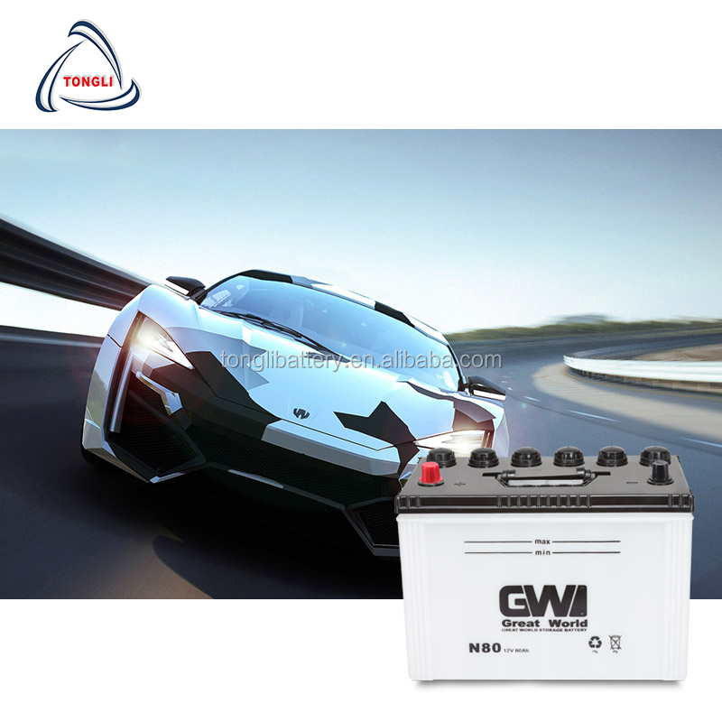 Dry Cell 12V 50AH Japanese Standard Car battery manufacturer with Cheapest price in Saudi Arabia