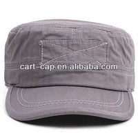 gray color with patch,washed cotton military bush hats