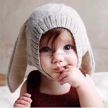 Baby Rabbit Ears Knitted Infant Toddler Winter Cap