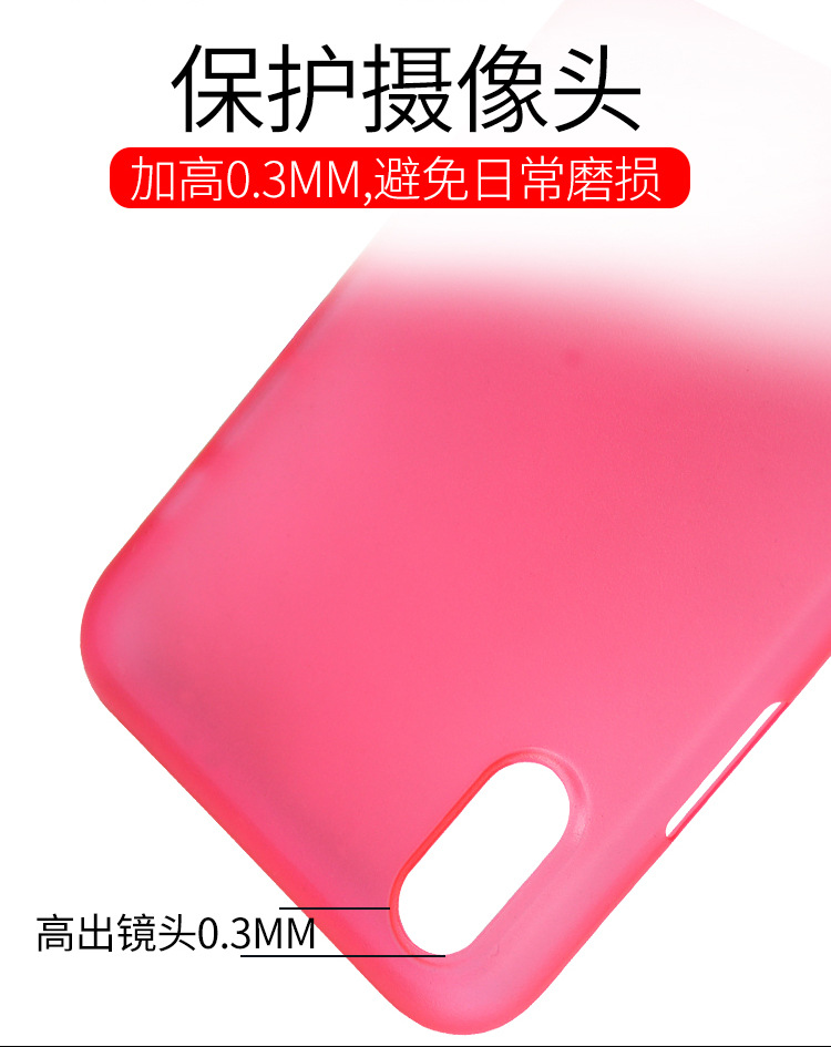 0.3mm Ultra Thin Slim Translucent Matte Frosted Soft TPU Case Cover for iPhone X
