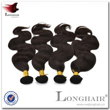 Sex Young Natural Color 100% Virgin Brazilian Hair Thin Hair