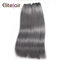 2017 High quality Grade AAAA 100% double drawn fashion grey remy hair Weft
