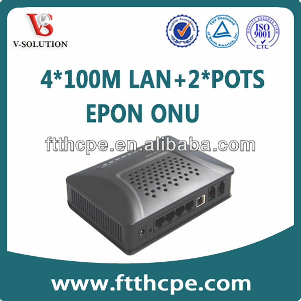 Internal data copper FTTH box with 4FE+2POTS, GEPON ONU