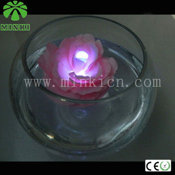 led night light with flowers