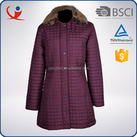 Custom made waterproof polyester warm korea women winter coat