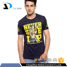 fashion 100% cotton breathable dry fit man longline print man t-shirt