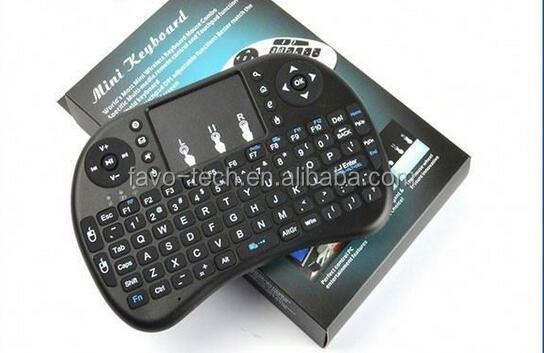 Hot selling Portable mini Rii i8 Wireless Bluetooth 2.4G Keyboard with Touchpad with fast delivery